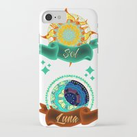 sun and moon iPhone & iPod Cases featuring Sun & Moon by Amanda Jonson