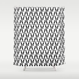 Greyhounds in Black and White Shower Curtain