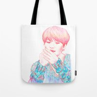 shinee Tote Bags featuring SHINee Taemin by sophillustration