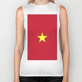 Vietnam flag emblem Biker Tank