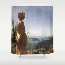 le jardin d'eze Shower Curtain