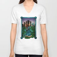 merida V-neck T-shirts featuring Silhouette Merida  by Katie Simpson a.k.a. Redhead-K