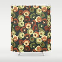 vintage floral Shower Curtains featuring Vintage floral by kociara