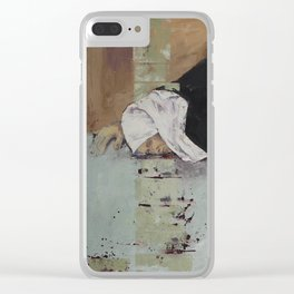Woman in Black Clear iPhone Case