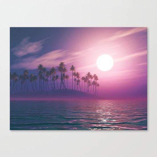 Palm tree island #ocean Canvas Print