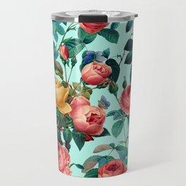 Spring-Summer Botanical Pattern II Travel Mug