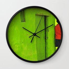 Green House Wall Clock