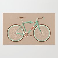 bicycle Area & Throw Rugs featuring Bicycle by Daniel Mackey