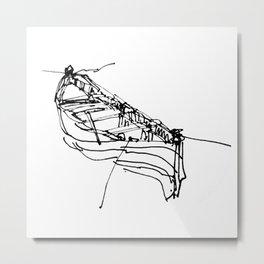 BOSPHORUS BOAT Metal Print