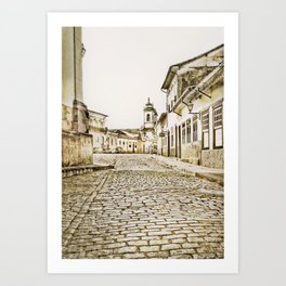 Historical city Art Print