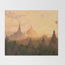 Bagan Myanmar Throw Blanket