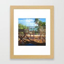 Tropical Beach View Puerto Rico Framed Art Print