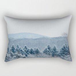 New England Snow Rectangular Pillow