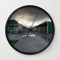 industrial Wall Clocks featuring Industrial by Crystal Dodds-Donnelly