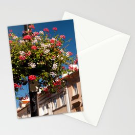 Pink and red Ivy leaved geranium Stationery Cards