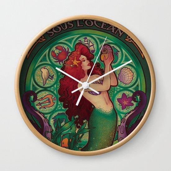 Sous La Mer Wall Clock