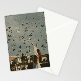 Some land holds a home Stationery Cards