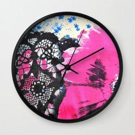 Pink Flower | fleur rose Wall Clock