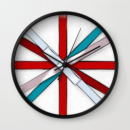 In the Honor of a British Flag Wall Clock