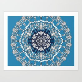 Trance Dream - Maya (Double Blue Edition) Art Print