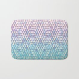 Spring Mermaid Scales Bath Mat