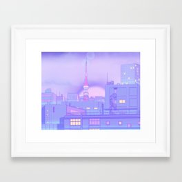 Blue Nostalgia Framed Art Print