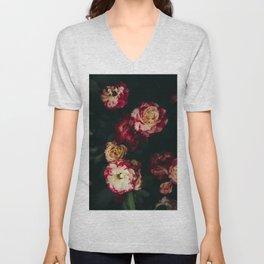 Autumn Roses Unisex V-Neck