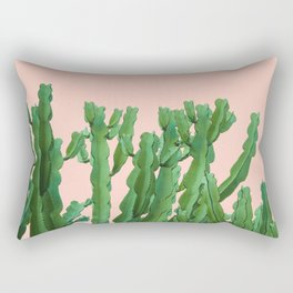 Italian Peach Cactus Rectangular Pillow