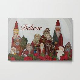 Believe : Santas Metal Print
