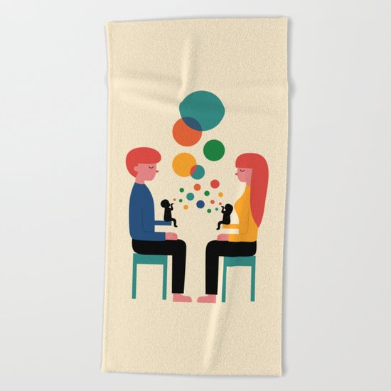 Soul Communication Beach Towel