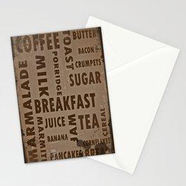 Vintage breakfast Stationery Cards