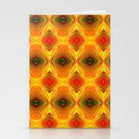 orange pattern Stationery Cards featuring Orange Pattern by Art-Motiva