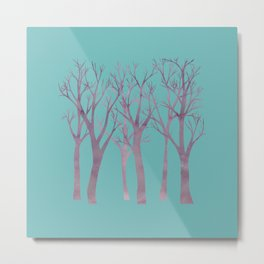 Woodland Contained Metal Print