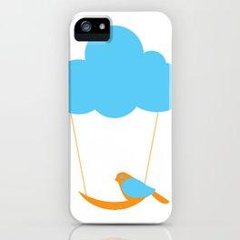 Cute bird and cloud iPhone Case