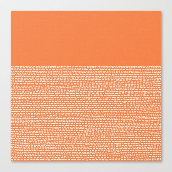 Riverside - Celosia Orange Canvas Print