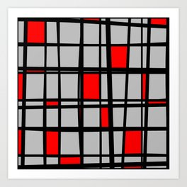 Gridlock - Abstract Art Print
