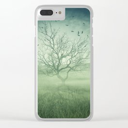Spooky meadow Clear iPhone Case