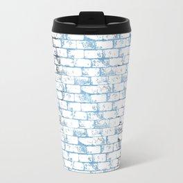 Bricks and Mortar - Blue.  Travel Mug