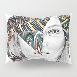 Origami Girl Two Pillow Sham