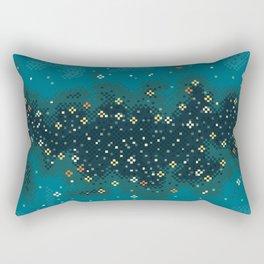 Blue Rift Galaxy (8bit) Rectangular Pillow