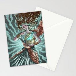 pandora opening the box Stationery Cards