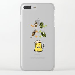 Beer fusion hop malt Anime Funny Gift Clear iPhone Case