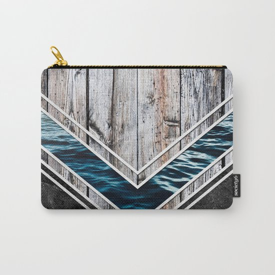 Striped Materials of Nature II Carry-All Pouch