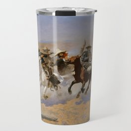 "Frederic Remington Western Art ""Dash For The Timber"" Travel Mug"