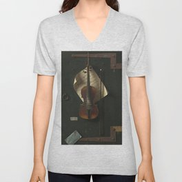 William Michael Harnett The Old Violin 1886 Painting Unisex V-Neck