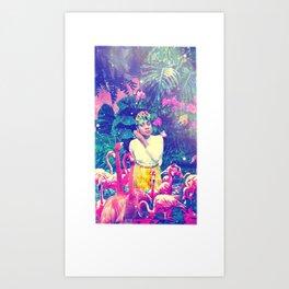 Wade in Pink Art Print