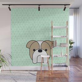 English bulldog green Wall Mural