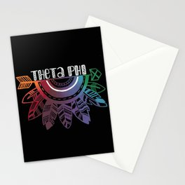 Theta Phi Arrow Stationery Cards