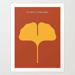 Ginkgo Leaf Rust Art Print