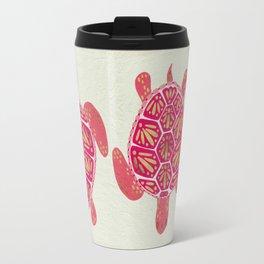 Sea Turtle – Pink & Gold Travel Mug
